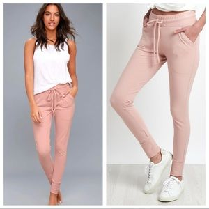 NEW Free People Sunny Skinny Sweatpants Blush Pink